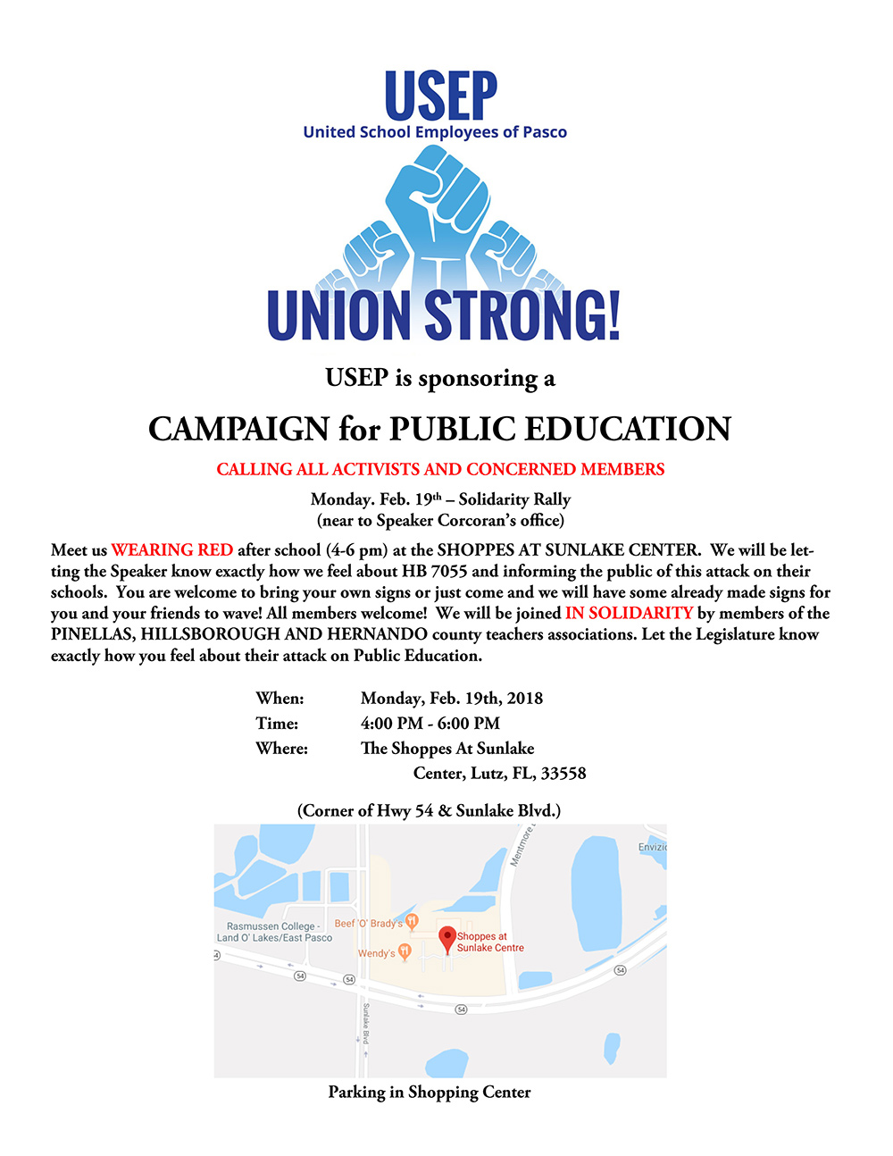 Campaign for Public Education Flyer